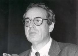 Salvador Giner. Conferencia sobre La producción social de la moral dentro del ciclo La constitución moral de la sociedad contemporánea , 1989