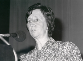 Margarita Salas. Conferencia sobre The formation of biological membranes - Membranes and cell Compartments , 1989