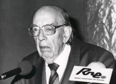 José Luis López Aranguren. Conferencia sobre Ética de transición, consenso y desencanto dentro del ciclo Moral española de la democracia actual (1976-1990)