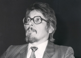 Pavel Stepanek. Conferencia sobre La Praga modernista dentro del ciclo La Praga modernista y cubista , 1990