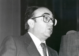 Ángel Oliver, con motivo del concierto de la obra Trio, en homenaje a César Frank, 1991