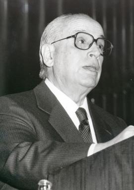 Enrique Franco Con en la presentación del libro Joaquín turina, a través de otros escritos, 1991