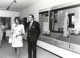 Tita Cervera y Hans Heinrich von Thyssen-Bornemisza. Exposición David Hockney, 1992