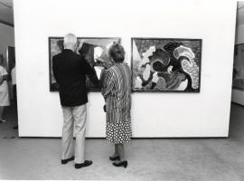 Vista parcial de la exposición David Hockney, 1992