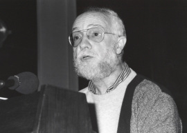 Josep Soler en el estreno de su obraMater Dolorosa, 1993