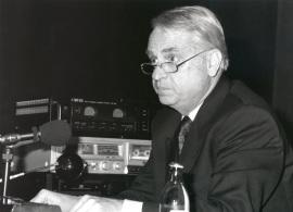 Cristóbal Halffter en el curso sobre Música y compromiso, 1994