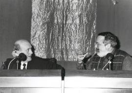 Javier Muguerza y Fernando Savater. Conferencia sobre La infancia recuperada dentro del ciclo El pensamiento, hoy , 1994