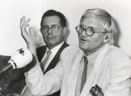 José Capa Eiríz y David Hockney. Exposición David Hockney, 1992