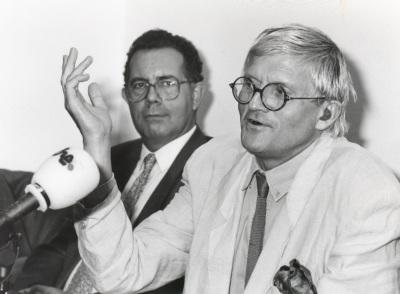 José Capa Eiríz y David Hockney. Exposición David Hockney
