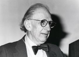 Eric Kandel en el ciclo de conferencias sobre Biología, 1995