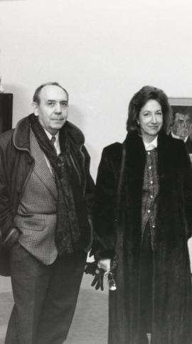 Gustavo Torner de la Fuente y María Corral. Exposición Malevich Colección del Museo Estatal Ruso, San Petersburgo, 1993