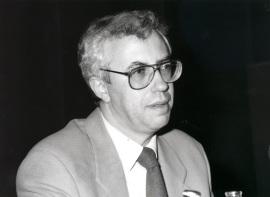 José Manuel Sánchez Ron en el ciclo El valor de la ciencia contemporánea, 1995