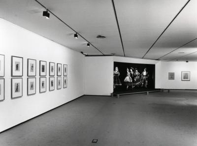 Vista parcial de la exposición Picasso. El sombrero de tres picos Dibujos para los decorados y el vestuario del Ballet de Manuel de Falla