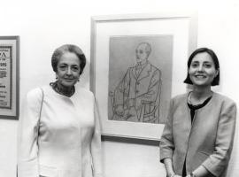 Maribel Falla y Brigitte Leal. Exposición Picasso. El sombrero de tres picos Dibujos para los decorados y el vestuario del Ballet de Manuel de Falla, 1993