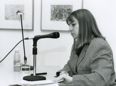 Carmen Bernárdez en el curso sobre Conocimiento del Arte Contemporáneo