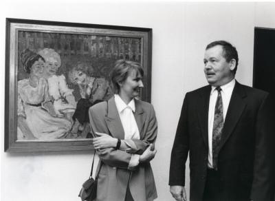 Magdalena M. Moeller y Reiner Güntzer. Exposición Museo Brücke Berlín Arte Expresionista Alemán