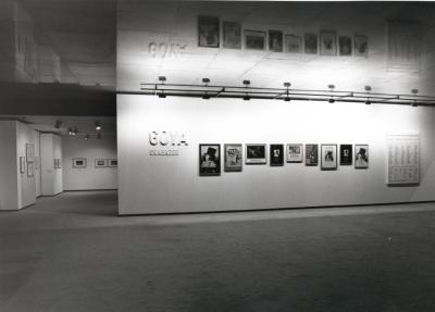 Vista parcial de la exposición Goya grabador