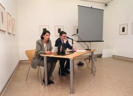 Sofía Barroso y Juan Manuel Bonet conferencia con motivo de la exposición José Guerrero, 1998