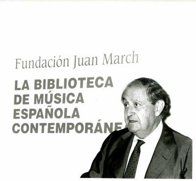 Juan March Delgado en la presentación del Libro-Catálogo de la Biblioteca de Música Española Contemporánea
