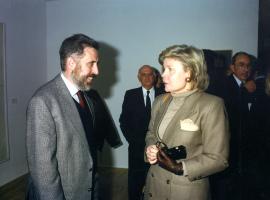 José Manuel Martínez Cenzano y Georgina Padilla. Exposición Fernando Zóbel: Rio Júcar, 1994