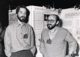 Timoty Nelson y Pere Puigdomenech. Workshop Genome Expresion and Pathogenesis of Plant RBA viruses, 1990