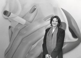 Estrella de Diego. Exposición Tom Wesselmann, 1996