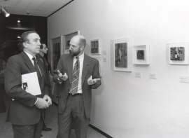 Carlos Espinosa de los Monteros y Thomas Buchsteiner. Exposición Tom Wesselmann, 1996