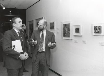 Carlos Espinosa de los Monteros y Thomas Buchsteiner. Exposición Tom Wesselmann
