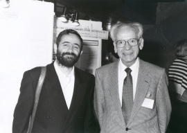 Francesc X. Avilés y Hans Neurath. Workshop Yeast Transport and Energetics, 1991