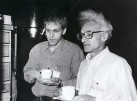 Trond Lamark y Wolfgang Epstein. Workshop Salt Tolerance in Microorganisms and Plants, 1991