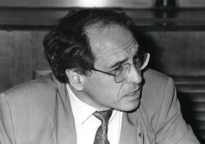 José Álvarez Junco. Profesor de seminario. Curso 1991-92