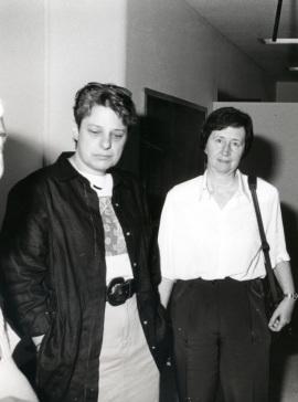 Lucia Rothman-Denes y Margarita Salas. Workshop On transcription initiation in prokaryotes, 1992