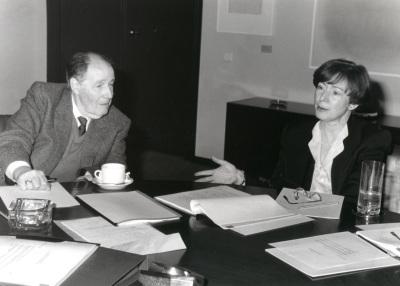 Suzanne Berger y Juan José Linz. Reunión consejo Científico