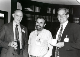 Daniel S. Longnecker, Manuel Perucho y Tony Hollingsworth. Workshop On Cell and Molecular Biology of Pancreatic Cancer, 1992