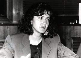 Susana Aguilar. Profesora de seminario. Curso 1992-93, 1992