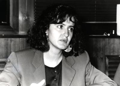 Susana Aguilar. Profesora de seminario. Curso 1992-93