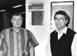 Russell Jones y Juan Carbonell. Workshop On Approaches to Plant Hormone Action, 1993