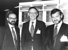 Carlos Diéguez, Lawrence Frohman y Felipe Casanueva. Workshop On Neuroendocrinology of Growth, 1993
