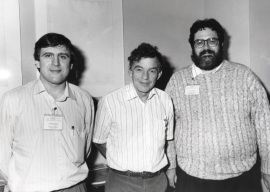 José López-Barneo, Clay M. Armstrong y Richard W. Aldrich. Workshop On molecular Basis of Ion Channel Function, 1993