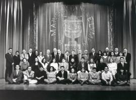 Acto de fin de curso del Centro de Estudios Avanzados en Ciencias Sociales (CEACS), 1994