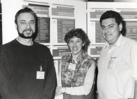 Jozef J. Bujarski, Sandra Schlessinger y Javier Romero. Workshop Genetic recombination and defective interferig particles in R viruses, 1994