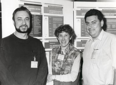 Jozef J. Bujarski, Sandra Schlessinger y Javier Romero. Workshop Genetic recombination and defective interferig particles in R viruses