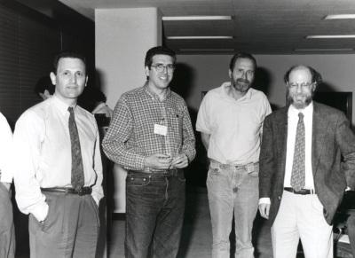 Carlos Martínez, Abelardo López Rivas, John A. Cidlowski y Robert Horvitz. Workshop The biochemistry and regulation of programe cell death