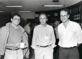 Fernando Azorín, Miguel Beato y Alan Wolffe. Workshop Chromatin structure and gene expression, 1994