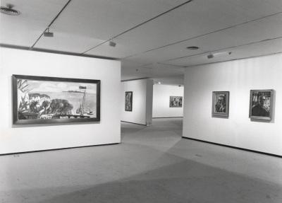 Vista parcial de la exposición Max Beckmann