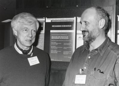 Martín Heisenberg y Alberto Ferrús. Workshop Cellular and Molecular Mechanisms in Behaviour