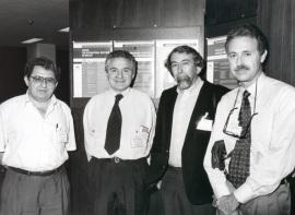 Manuel Rico, José María Mato, Tom L. Blundell y Martín Martínez-Ripoll. Workshop Three-diimensional Structure of Biological Macromoleculas, 1995