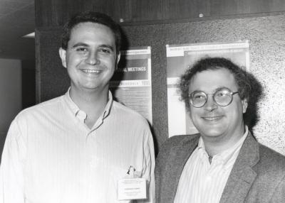 Santiago Lamas y Thomas Michel. Workshop Molecular Biology and Pathophysiology of Nitric Oxide