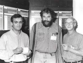 Francisco X. Real, Hartmut Beug y Alain Zweibaum. Workshop Molecular Mechanisms Involved in Epithelial Cell Differentiation, 1995