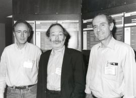 Miguel Beato, Ben Lewin y Joan Modolell. Workshop Switching Transcription in Development, 1995